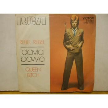 """REBEL REBEL / QUEEN BITCH - 7"""" ITALY"""