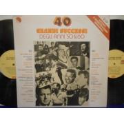 40 GRANDI SUCCESSI DEGLI ANNI '50 & '60 - 2 LP