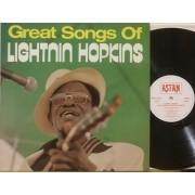 GREAT SONGS OF LIGHTNIN HOPKINS - REISSUE GERMANY