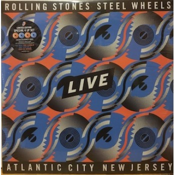 STEEL WHEELS LIVE ATLANTIC CITY NEW JERSEY - 4 LP COLOURED
