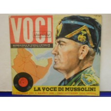 """LA VOCE DI MUSSOLINI 9 MAGGIO 1936 - 7"""" FLEXI"""