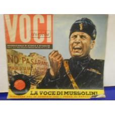 """LA VOCE DI MUSSOLINI 26 MAGGIO 1939 - 7"""" FLEXI"""