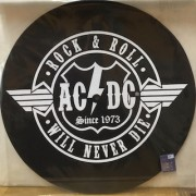 TURNTABLE SLIPMATS - AC/DC - ROCK & ROLL WILL NEVER DIE