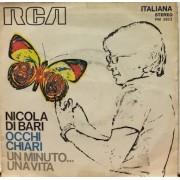 """OCCHI CHIARI / UN MINUTO UNA VITA - 7"""" ITALY"""