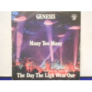 """MANY TOO MANY / THE DAY THE LIGHT WENT OUT / VANCOUVER - 7"""" ITALIA"""