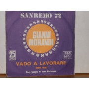 """VADO A LAVORARE / UNA RAGAZZA DI NOME MARIAROSA - 7"""" YUGOSLAVIA"""