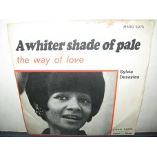 """A WHITER SHADE OF PALE / THE WAY OF LOVE - 7"""" ITALY"""