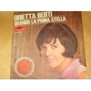 """QUANDO LA PRIMA STELLA / RITORNA CON IL SOLE - 7"""" ITALY"""