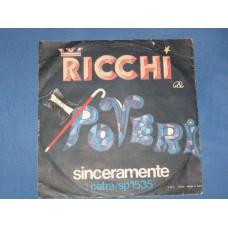 """PENSO SORRIDO E CANTO / SINCERAMENTE - 7"""" ITALY"""