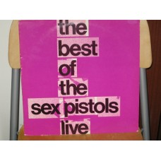 THE BEST OF THE SEX PISTOLS LIVE - LP UK